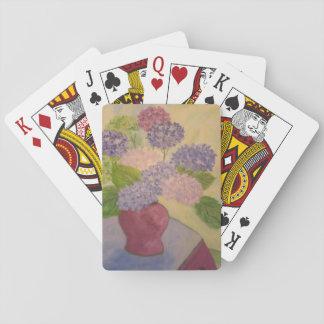 Whimsical Hydrangea Poker Deck