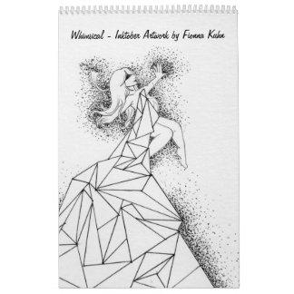 Whimsical - Inktober Artwork by Fionna Kuhn Calendars