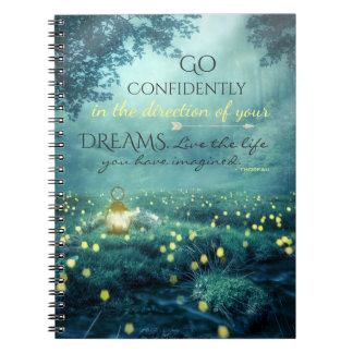 Whimsical Inspiring Dreams Quote Notebook
