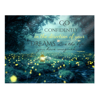 Whimsical Inspiring Dreams Quote Postcard