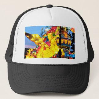 Whimsical Japanese Unicorn Lantern Trucker Hat