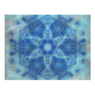 Whimsical kaleidoscope in blue greeting card