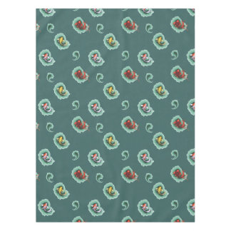 Whimsical Koi Fish Paisley Patterned Tablecloth