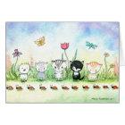 Whimsical Ladybug Kitty Cat Puppy Card