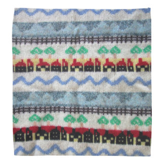 Whimsical Lapel Pocket Handkerchief Bandana