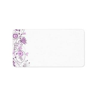 Whimsical Lavender Address Label 1