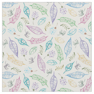 Whimsical Leaves Fabric