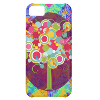 Whimsical Lollipop Candy Tree Colorful Abstract Un iPhone 5C Case