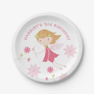 Whimsical Magical Fairy Birthday Paper Plate