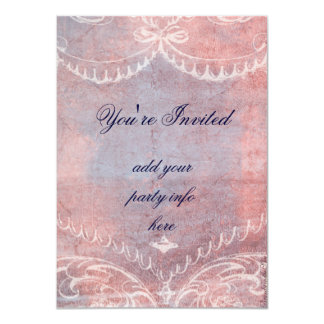 Whimsical Marie Antoinette Cupcake & Bird 4.5x6.25 Paper Invitation Card