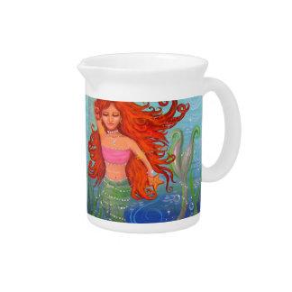 Whimsical Mermaid Pitcher