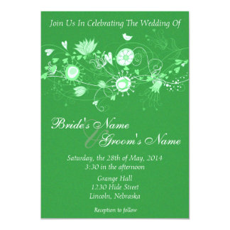 Whimsical Minty Green Wedding Invite