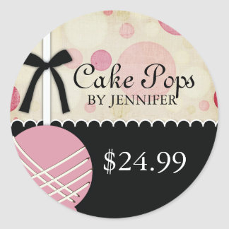 Whimsical Modern Bakery Price Tags Round Stickers