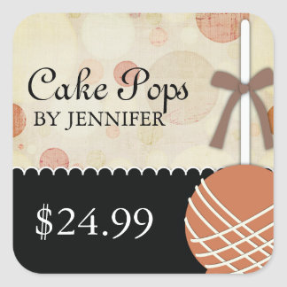 Whimsical Modern Bakery Price Tags Square Sticker