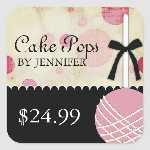 Whimsical Modern Bakery Price Tags Sticker