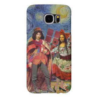 Whimsical Mona Lisa Romantic Colorful Samsung Galaxy S6 Cases