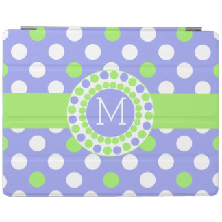 Whimsical Monogrammed Polka Dot iPad Cover