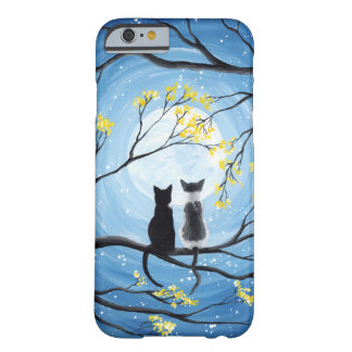 Whimsical Moon with Cats Barely There iPhone 6 Case