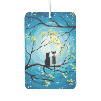 Whimsical Moon with Cats Car Air Freshener