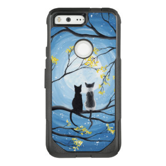 Whimsical Moon with Cats OtterBox Commuter Google Pixel Case