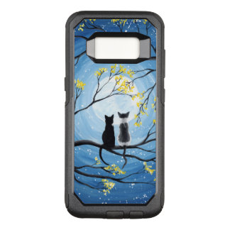 Whimsical Moon with Cats OtterBox Commuter Samsung Galaxy S8 Case