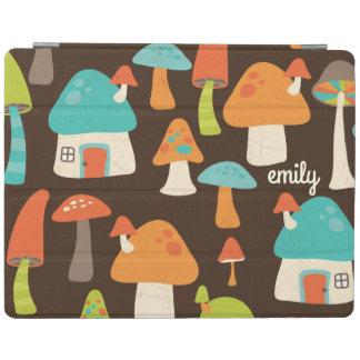 Whimsical Mushroom Houses Custom iPad Cover