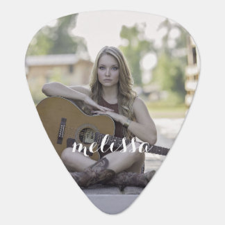 Whimsical Name Photo Guitar Pick