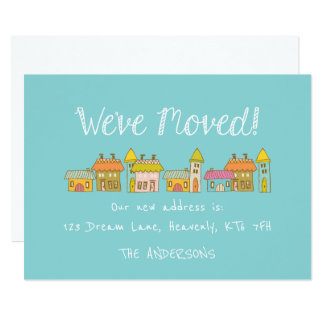 Whimsical New Address Announcement