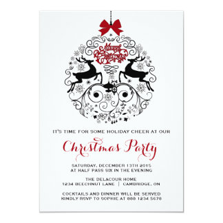 Whimsical Ornaments Christmas Party Invitation