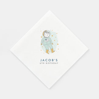 Whimsical Outer Space Personalized Napkins Disposable Serviette