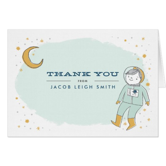 Whimsical Outer Space Thank You Cards