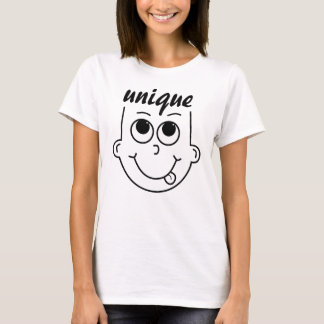 Whimsical Outline of Boy with Tongue Sticking Out T-Shirt