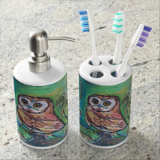 Whimsical Owl Bathroom Set