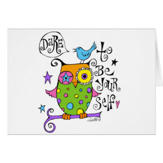 Whimsical Owl Illustration Card
