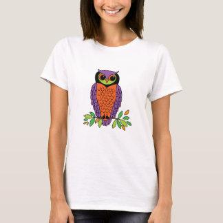 Whimsical Owl on Branch T-Shirt