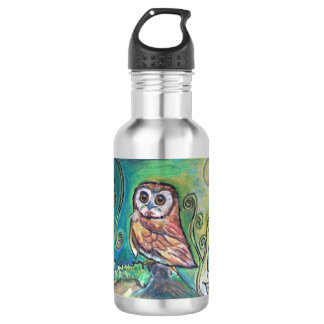 Whimsical Owl Water Bottle 532 Ml Water Bottle