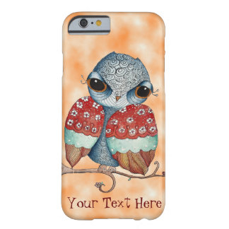 Whimsical Owl with Attitude Orange iPhone 6 Case
