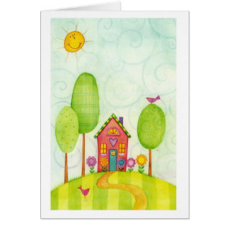 whimsical painting card