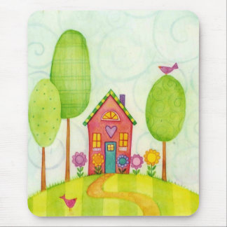 whimsical painting mouse pad
