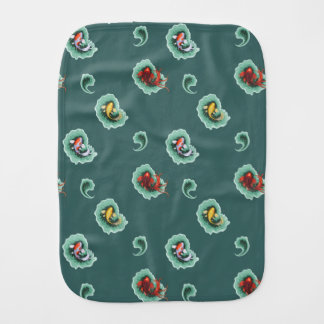 Whimsical Paisley Pattern Burp Cloth
