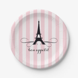 Whimsical Paris Eiffel Tower | Bridal Shower Paper Plate