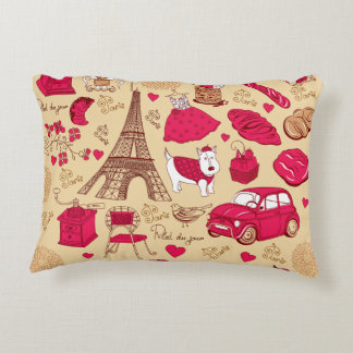 Whimsical Parisian Pillow