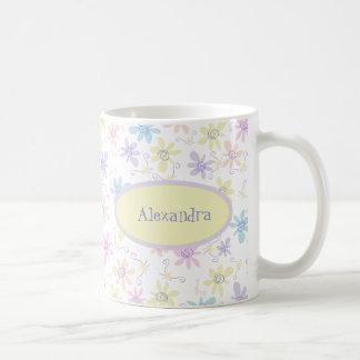 Whimsical Pastel Flowers Coffee Mug