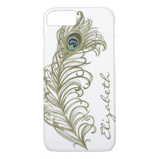 Whimsical Peacock Feather iPhone 7 case