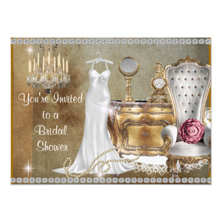 WHIMSICAL PEARLS BRIDAL SHOWER CHIC INVITATION