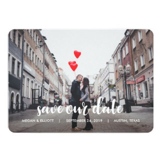 Whimsical Photo Save the Date Card