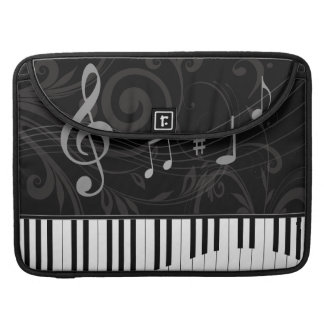 Whimsical Piano and Musical Notes Sleeve For MacBook Pro