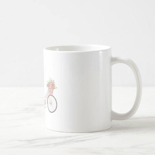 Whimsical Pink Bicycle Coffee Mug
