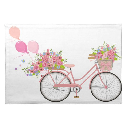 Whimsical Pink Bicycle Placemat