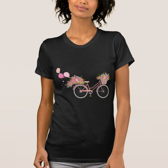 Whimsical Pink Bicycle T-Shirt